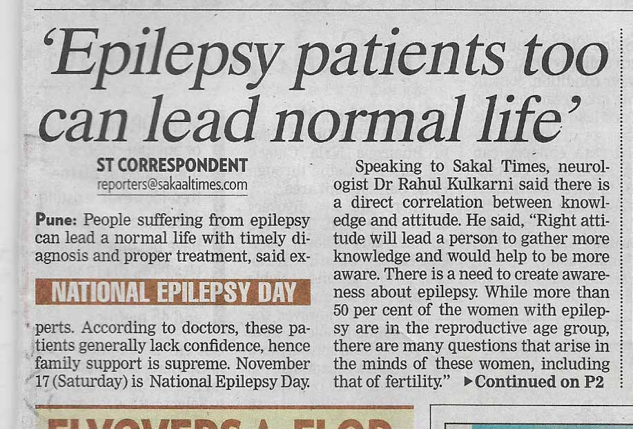 Epilepsy Patient too can lead Normal Life