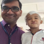 Dr. Sandeep with child patient at DMH